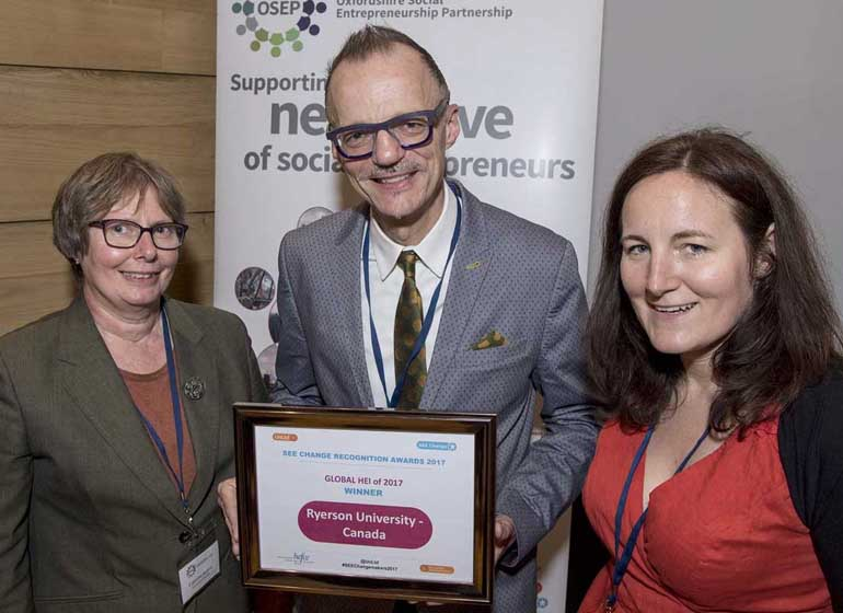 University honoured as social entrepreneurship leader at Oxford